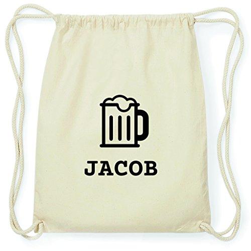 JOllify Turnbeutel - Happy Birthday - für Jacob - Bier Gruß