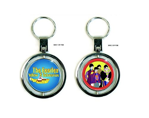 The Beatles Schlüsselring Keychain Yellow Submarine Nue offiziell metal spinner