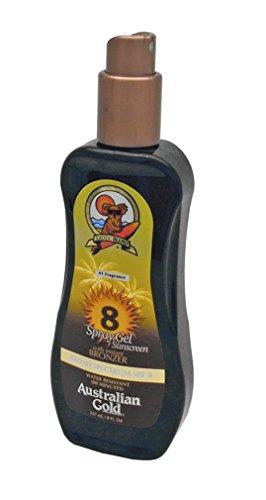 Australian Gold Gold Spray Gel with Instant Bronzer, SPF 8 8 oz