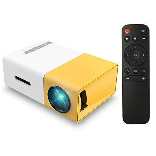 Docooler Mini Projector LED Projector Projection Machine with USB HD AV TF Card Slot Mini Pocket Remote Controller for Laptop PC,for Party Game Outdoor Entertainment,NOT Includes Built-in Battery