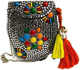 Handicraft Beautiful Bling Box Clutch Bag Purse For Bridal, Casual, Party, Wedding