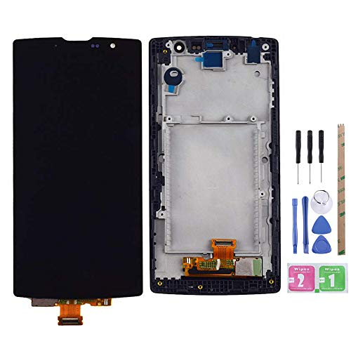 YeeLing LCD Display + Outer Glass Touch Screen Digitizer Full Assembly Replacement for LG Magna H500 H502F H500F H525 H500R H500N Y90 C90 G4c G4 Mini Black with Frame