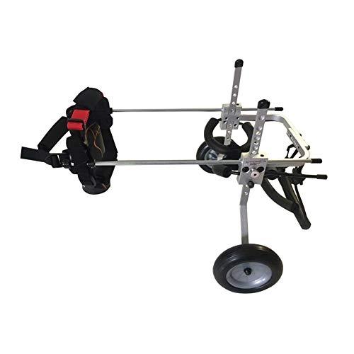 Hond rolstoel, arm hond scooter revalidatie van de achterpoten, kat, rolstoel, houder verstelbaar, lichtgewicht huisdier kinderwagen X-Small