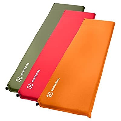 Winterial Lightweight Self Inflating Sleeping Pad, Great for Backpacking and Camping, Orange