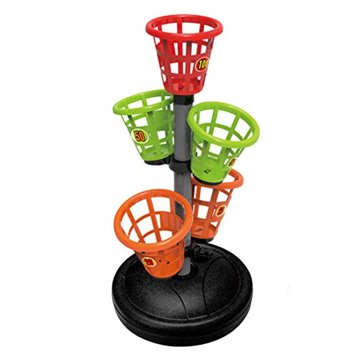 NUOBESTY Bean Bag Bucketz Bean Bag Toss Toys Tower Toss Game Funny Outdoor Backyard Game for Kids Adults Family