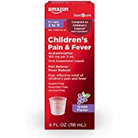 Amazon Basic Care Children's Pain & Fever Acetaminophen 4-oz