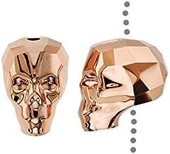 SWAROVSKI ELEMENTS Crystal Beads, #5750 Skull, 13mm 1 Piece, Crystal Rose Gold 2X