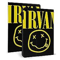 IPad ケース Nirvana Logo フリップカバー タブレット保護ケース 耐衝撃 ホルスター 保護カバー 自動ウェイクアップ/オートスリープ