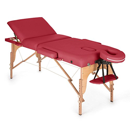 KLAR FIT Klarfit MT 500 Table de Massage Pliable (cavité faciale, Rembourrage Mousse, entièrement...