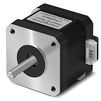 Usongshine Nema 17 Stepper Motor 42BYGH 1.8 Degree 1.5A 42 Motor (17HS4401S) 42N.cm (60oz.in) 4-Lead with 1m Cable and Connector for DIY CNC 3D Printer (Pack of 1)