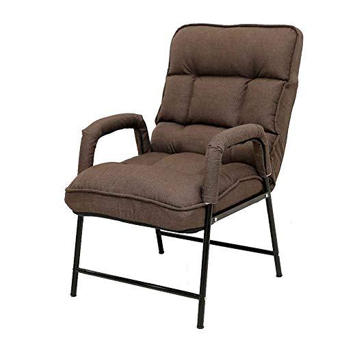 FUFU Sillas de salón plegables para patio, respaldo ajustable, silla de oficina, adecuado para dormitorio, dormitorio, hogar, sillón perezoso con reposapiés duradero