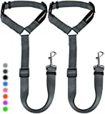 URPOWER Dog Seat Belt 2 Pack Safety Dog Car Seat Belt Strap Car Headrest Restraint Adjustable Vehicle Seatbelts Durable Nylon Car Harness for Dogs, Cats and Pets