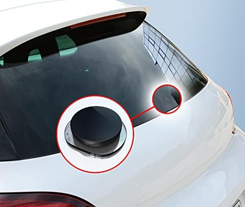 BIJON Heckwischer Stopfen für VW Golf - ECHT-Glas, Scheibenwischer Abdeckung - Car Tuning, Glasstopfen VW Golf Zubehör inklusive Kleber (VW Golf V 1K (Bj. 2003-2008))