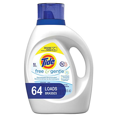 3 Bottles of Tide Free and Gentle Liquid Laundry Detergent 100 oz Only $25.91 - $8.60 Each