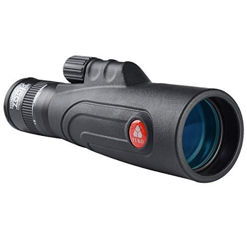 WBOSHI HD 10-20x50 Hochleistungs-Zoom-Monokular-Teleskop - wasserdicht und beschlagfrei - BAK4 Prisma-FMC-Objektiv - Einhand-Fokusfernrohr für Konzerte, Reisen, Wildlife Scenery für Erwachsene
