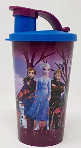 TUPPERWARE Trinkbecher Disney Frozen ELSA Eiskönigin Becher mit Deckel auslaufsicher 330ml rosa weiß Mädchen Prinzessin ideal für Smoothie Trinkflasche Eco Ecoeasy