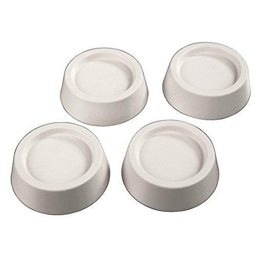 Xavax Vibrationsdämpfer (für Waschmaschine, Trockner und Spülmaschine, Schwingungsdämpfer, Innendurchmesser 4,5 cm) 4er Set, weiß
