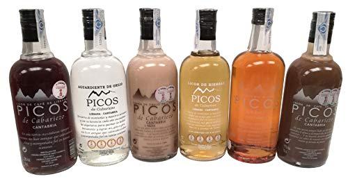 Orujo Artesanal de Potes Ganador de 4 Alquitaras de Oro Pack Ahorro de 6 Botellas de 6 Sabores distintos a Elegir por Usted Orujo Artesanal de Bodega Familiar 100% Garantizada su Calidad