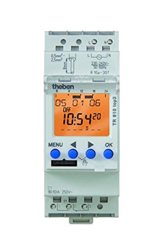 Theben 6100100 Digitale Zeitschaltuhr mit Wochenprogramm TR 610 top2 Reiheneinbaugerät