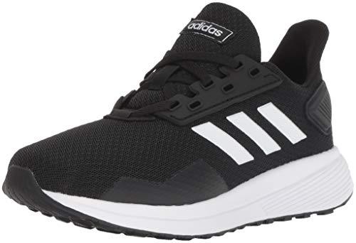 adidas unisex-kid's Duramo 9 Running Shoe, Black/White/Black, 2