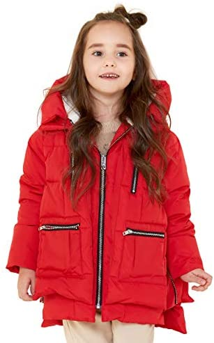 Orolay Children Hooded Down Coat Girls Quilted Puffer Jacket Boys Winter Jackets Red 110CM product image