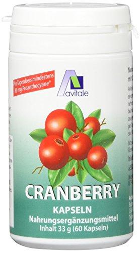 Avitale Cranberry Kapseln 400 mg, 60 Stück, 1er Pack (1 x 33 g)
