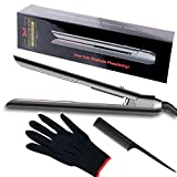 Professional Hair Straightener,2 in 1 Hair Curler Flat Iron Straightener Dual Voltage