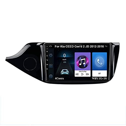 Autoradio GPS Navigazione Music 9 Pollici HD Touch Multimedia Per KIA Cee'd CEED JD 2012-2016 Collega E Usa Bluetooth Vivavoce Controllo Del Volante Telecamera Posteriore