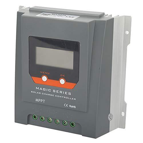 Controlador de cargador solar, 30A Controlador de carga solar Punto de seguimiento Eficiencia de metal y componentes electrónicos Hecho de tecnología