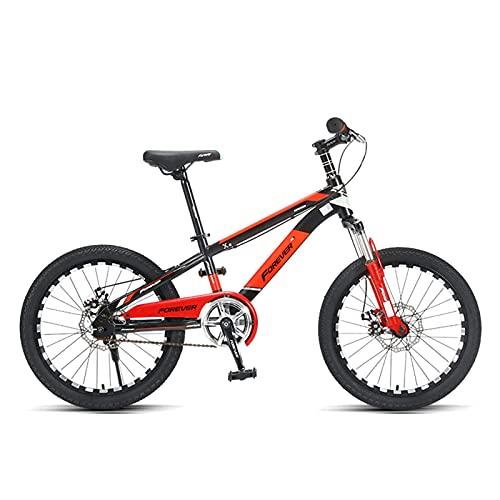 """MQJ Vélo Pour Enfants 18""""Amp; 20"""" Vélo Pour Enfants Cross Cross Boy Garçon Junior High School Pupil Teenager Vélo,Rouge,18In"""