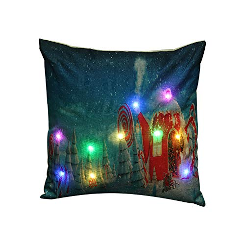 Christmas Pillow Covers,Decorative Cotton Linen Throw Cushion Covers for Home Office Sofa Outdoor Couch Decor