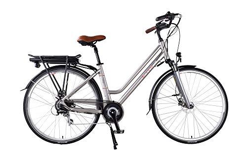 "CILO Lago Comfort E-Bike Elektrofahrrad Pedelec Damen 28\"" 46 cm Silber Modell 2019"