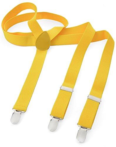 Miobo Cinghie lunghe a Y, elastiche, sottili e con vari motivi per uomo Taglia unica Giallo
