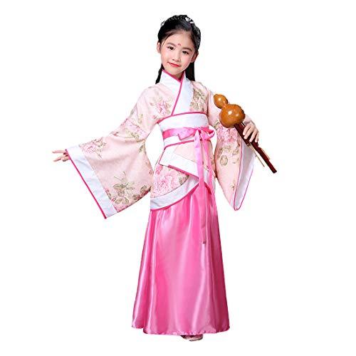 Huicai Mädchen Frauen Hanfu Kleid Sets Prinzessin Kleid Alten Chinesischen Stil Elegante Damen Mädchen Leistung Kostüm (Tops + Kleid + Taille Gürtel)