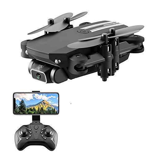 LYHLYH Aérienne Drone, HD 4K Pixel Mini Quadcopter Ultraléger et Drone Portable Hauteur Fixe à Distance Avion contrôle Facile à Transporter Facile pour Les débutants,Noir