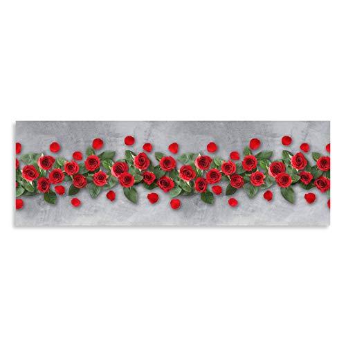 CASAbella Tappeto corsia Cucina Antiscivolo passatoia gommato Disegno Digitale MOD. Yuma (Rose, cm 50x280)