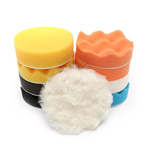 Kit de almohadilla de pulido, amplia gama de aplicaciones Almohadilla de pulido de buena porosidad, mejor pulido para automóviles deportivos(7 inch)