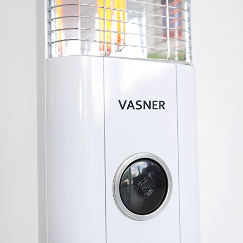 VASNER StandLine 25R Infrarot Stand-Heizstrahler – weiß – 2500 Watt, Terrassenstrahler elektrisch - 2