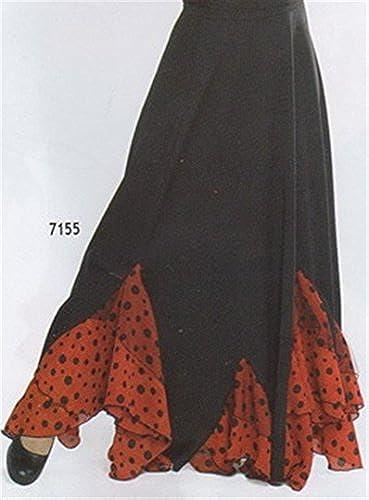 Flamenco rot Schwarzmit dreieckigen Rüschen Gr. M