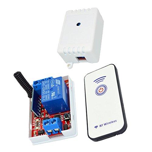 Almencla 12V Interruptor de Relé de 1 Canal Módulo 433M Control de RF Autoblocante 15-30m