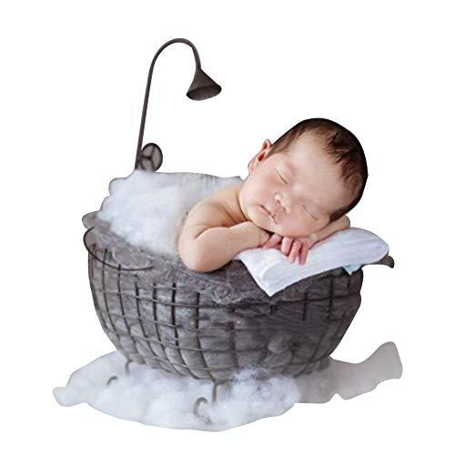 S-tubit Neugeborene Fotografie Requisiten, Baby Fotografie Bett, kleine Badewanne Requisiten, Baby Korb, für Ostern Foto Wohnaccessoires, Monat Bad Fotografie, Memorial Foto Like-Minded