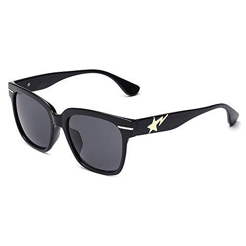 Gafas de sol para mujer, diseño de camuflaje con montura completa, protección UV, para mujeres, hombres, al aire libre, conducción, vacaciones, verano, playa, uso diario (color: negro)