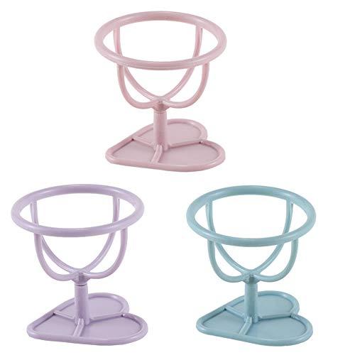 3pcs / set de maquillage Porte-éponge Affichage Puff Support Gourd Forme Éponge Support séchage Holder (rose/violet/bleu)