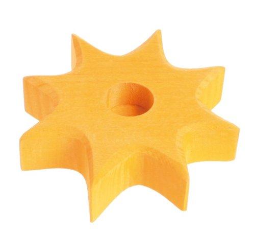 Grimms Spiel Und Holz Design Grimm\'s Lebenslicht Stern, gelb