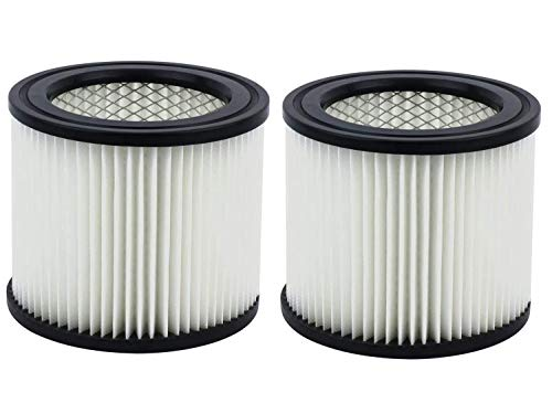 Carkio HEPA Vacuum Cleaner Replacement Filter Compatible with Shop-Vac 90398, 903-98, 9039800, 903-98-00 Hangup Wet/Dry Vacuum Cleaner Spares Cartridge Filter (Pack of 2)