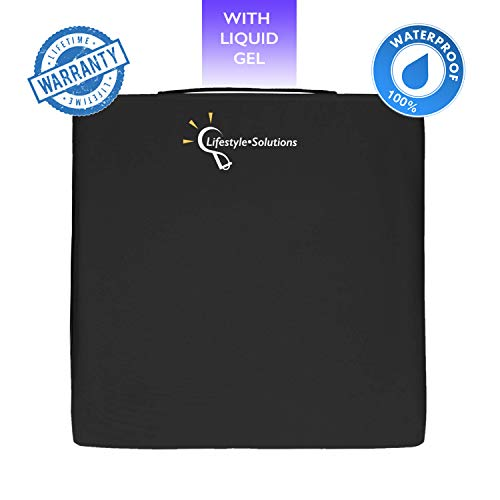Lifestyle Orthopedic Gel Seat Cushion for Wheelchair, Waterproof Liquid Gel Cushion for Tailbone Pain Relief, Seat Pad for Car, Office Chair, Computer, Coccyx Cushion for Sciatica and Pressure Sores