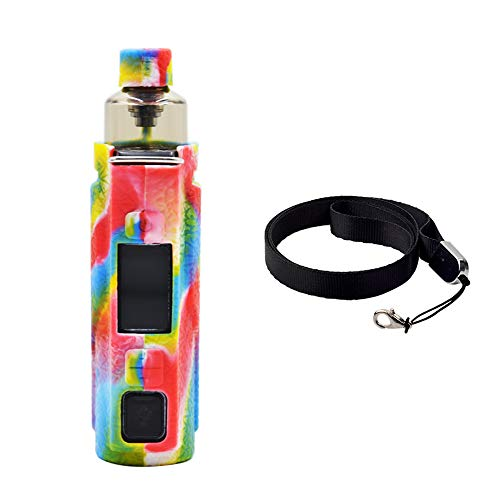 Protective Cover Skin Silicone Case for Voopoo Argus Pro 8 Colors with Free Lanyard (Ship from USA)-Rainbow