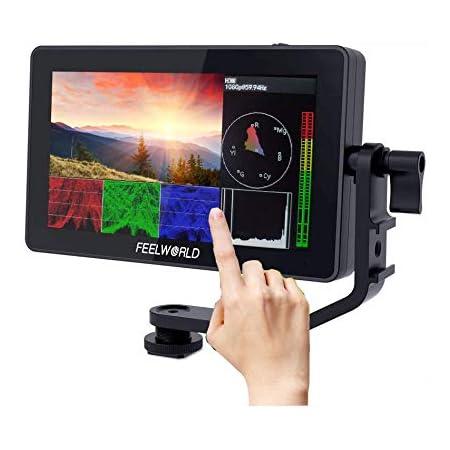 FEELWORLD F6 Plus カメラビデオ モニター タッチスクリーン 5.5インチ 4K HDMI 出力/入力 信号 一眼レフカメラ撮影確認用 HD 1920 x 1080 IPS ビデオピークフォーカスアシスト 3D LUTのサポート【一年間保証&日本語設定可能】
