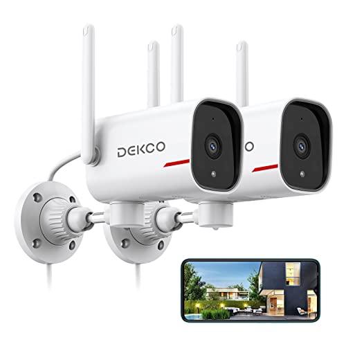 Outdoor Security Camera - DEKCO 1080p Pan Rotating 180°...