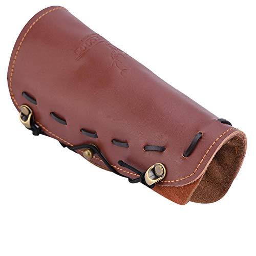 Alomejor Bogenschießen Armschutz Leder Traditionelles Bogenschießen Tresorriemen Leder Antikarmband Armband für Bogenschießen Schutzausrüstung